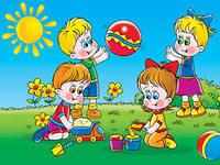 лето картинка детская