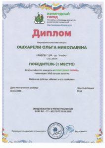 diploma de la 1 el lugar de la sesión Imán y sus propiedades