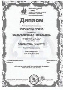 всероссийской викторине «Азбука безопасности» (2016г)