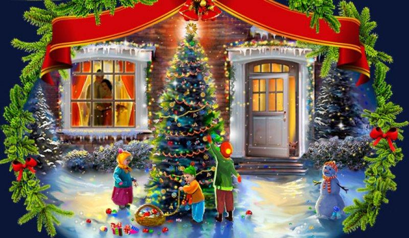 Скоро двери распахнёт нам чудесный новый год!